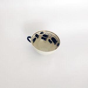 kleines A Geschirr Teller Schüsseln Kollektion Palimpzest Tasse