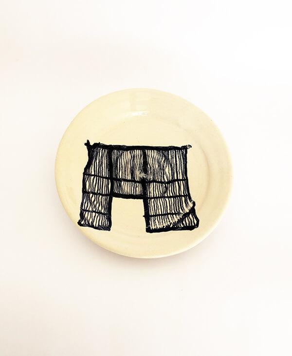 kleines A Geschirr Teller Schüsseln Kollektion Fayence Teller